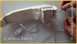 Многофункциональный предмет интерьера в морском стиле (светильник, часы, шкатулка) «Чёрная жемчужина», в технике пейп-арт. фото 7