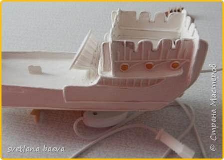 Многофункциональный предмет интерьера в морском стиле (светильник, часы, шкатулка) «Чёрная жемчужина», в технике пейп-арт. фото 8