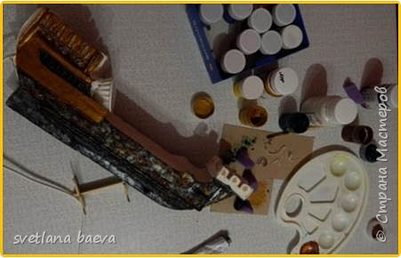 Многофункциональный предмет интерьера в морском стиле (светильник, часы, шкатулка) «Чёрная жемчужина», в технике пейп-арт. фото 9