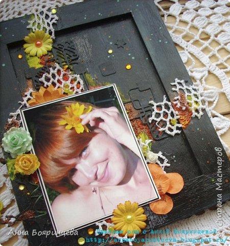 Всем привет!!!! Покажу сегодня рамочку для фото, делала ее на вебинаре С Евгенией Захаровой.  фото 2