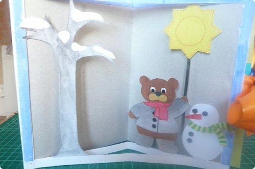 """Здравствуйте! Хочу показать книжку-туннель-раскладушку, которую делала в детский сад на """"Книжкину неделю"""". Книжка для совсем малышковской группы, поэтому тема выбрана самая популярная - времена года.   фото 2"""