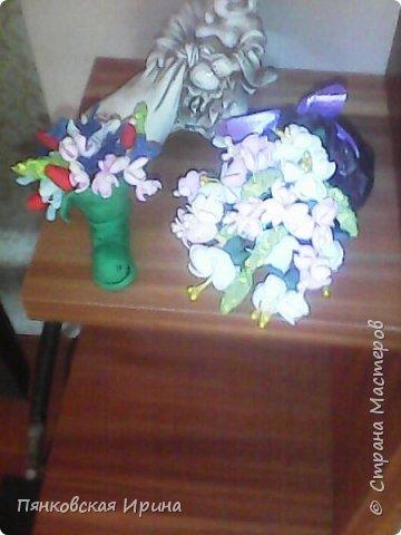 цветы для украшения из фоамирана ( из остатков фома) фото 8