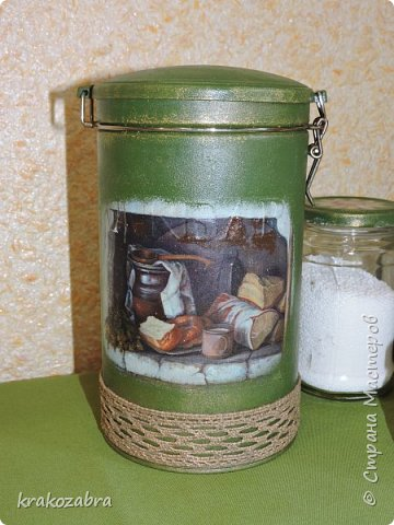 Наконец я закончила банки. Получились они двух типов: чайно-кофейный набор и набор под крупы и приправы. фото 11