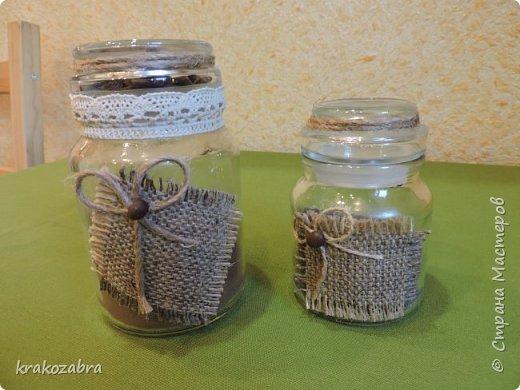 Наконец я закончила банки. Получились они двух типов: чайно-кофейный набор и набор под крупы и приправы. фото 7