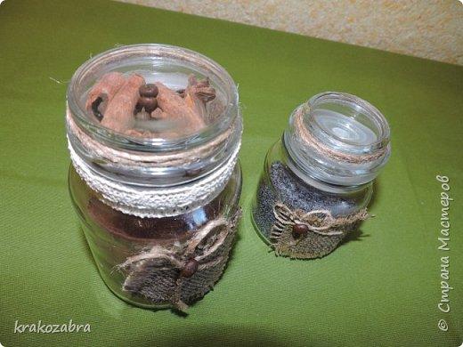 Наконец я закончила банки. Получились они двух типов: чайно-кофейный набор и набор под крупы и приправы. фото 8
