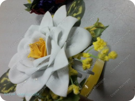 цветы из фома фото 19