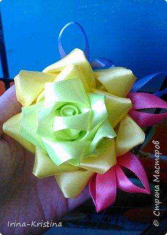 Вот такая простая шапочка преобразилась пышным цветком. фото 10