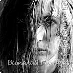 На фото лицо моей доброй феи,  которая насквозь промокла во время проливного дождя.  Публикую с её доброго разрешения. Фотография снята 09.05.1975 года.  Автор: Виталий Гольдман.