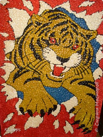 Тигра из перловки фото 1
