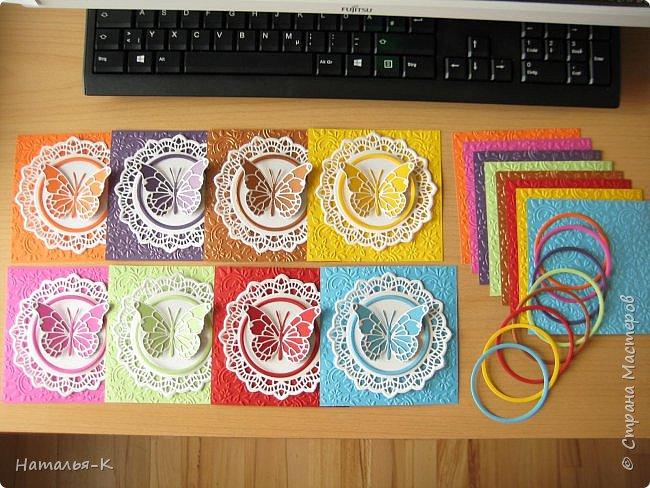 Всем жителям Страны Мастеров - доброго дня!!! Сегодня у меня открытки - пригласительные для моей внучки, вернее для её подружек. Размер 12 х 15 см.  фото 7