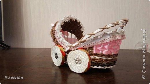 Я к вам опять с коляской,дочь попросила сделать коляску для подружки в подарок,отложила все свои  дела,быстро сваяла фото 3
