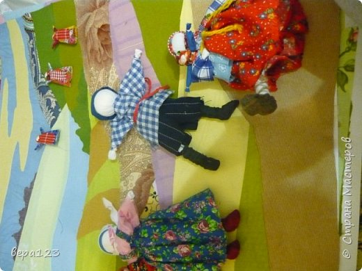 создание композиции с использованием традиционных тряпичных кукол фото 1