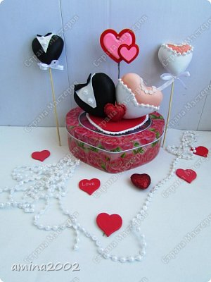 Добрый день! Свадебные украшения из фома. фото 1