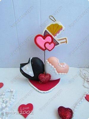 Добрый день! Свадебные украшения из фома. фото 3