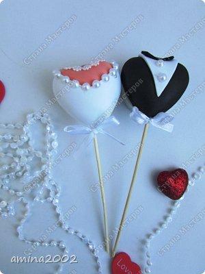 Добрый день! Свадебные украшения из фома. фото 4