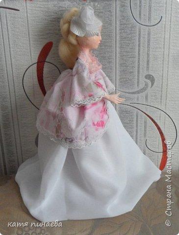 кукла в смешанной технике на проволочном карасе фото 3