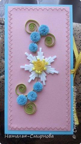 Здравствуйте! Сегодня у меня и открытки, и шоколадницы, и конверты. Основа этого конверта из самодельного картона. фото 2