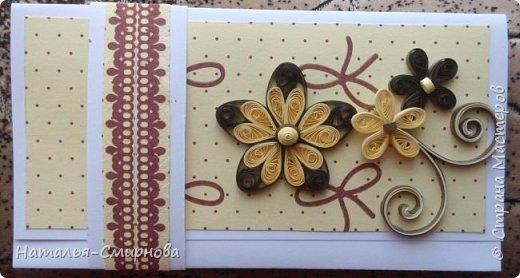 Здравствуйте! Сегодня у меня и открытки, и шоколадницы, и конверты. Основа этого конверта из самодельного картона. фото 8