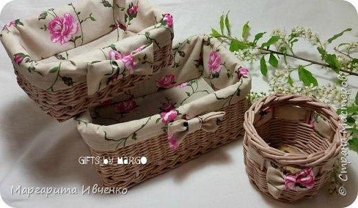 Набор корзинок с чехлами фото 2