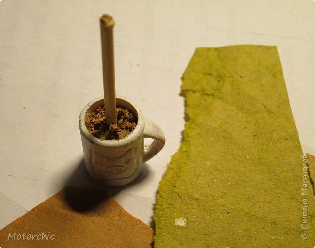 Сегодня я покажу свой первый мини-топиари из шерсти и фетра. фото 4