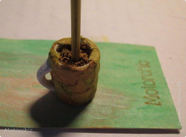 Сегодня я покажу свой первый мини-топиари из шерсти и фетра. фото 5