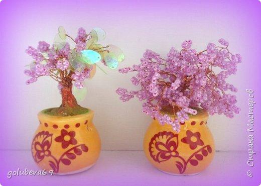 Новые бисерные деревца. фото 1