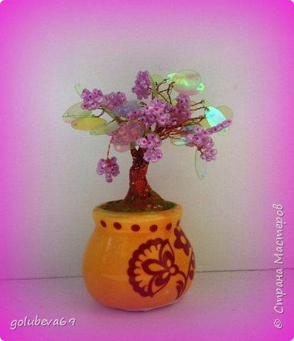 Новые бисерные деревца. фото 2