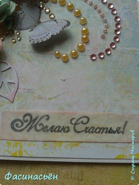"""Вот такая открытка сотворилась у меня.Лифтинг открытки самарской мастерицы Кристины Федотовой.В эту бумагу я просто влюбилась.Многие """"ругают"""" Арт Узор,а мне нравится)))  фото 3"""