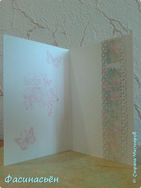 """Вот такая открытка сотворилась у меня.Лифтинг открытки самарской мастерицы Кристины Федотовой.В эту бумагу я просто влюбилась.Многие """"ругают"""" Арт Узор,а мне нравится)))  фото 5"""