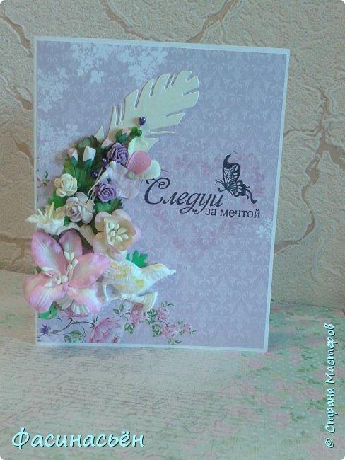 """Вот такая открытка сотворилась у меня.Лифтинг открытки самарской мастерицы Кристины Федотовой.В эту бумагу я просто влюбилась.Многие """"ругают"""" Арт Узор,а мне нравится)))  фото 8"""
