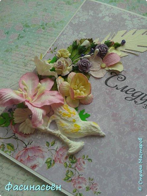 """Вот такая открытка сотворилась у меня.Лифтинг открытки самарской мастерицы Кристины Федотовой.В эту бумагу я просто влюбилась.Многие """"ругают"""" Арт Узор,а мне нравится)))  фото 12"""