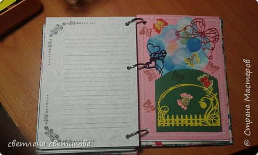 Делала на подарки ко дню рождения. Первая книга  полностью самодельная и обложка, и листочки для записи печатала. фото 5