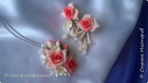 Украшения для невесты или выпускницы из холодного фарфора. фото 2