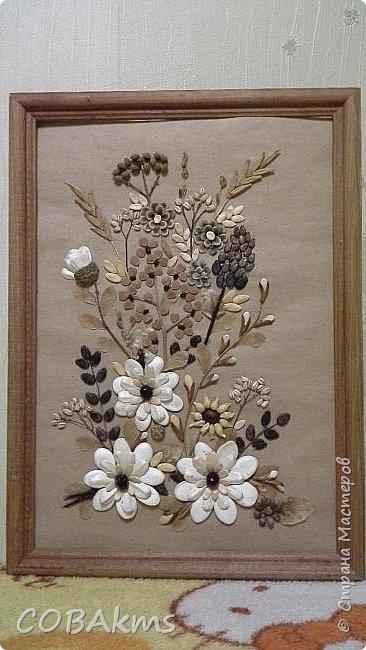 Картина из семян фото 1