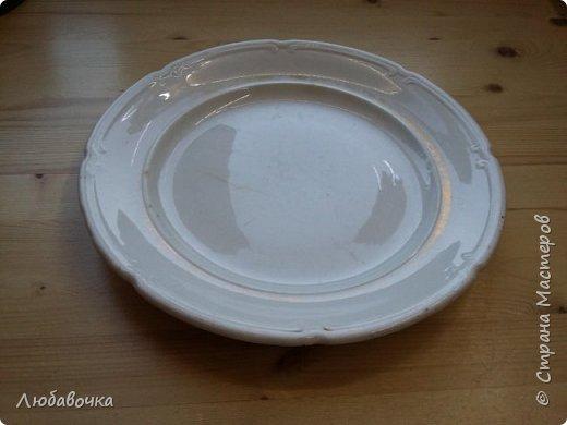 Первая тарелка моя любимая))  кошечка объемная из самоотвердевающей глины Фимо.  фото 10