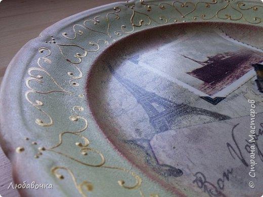 Первая тарелка моя любимая))  кошечка объемная из самоотвердевающей глины Фимо.  фото 9
