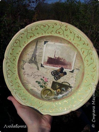 Первая тарелка моя любимая))  кошечка объемная из самоотвердевающей глины Фимо.  фото 8