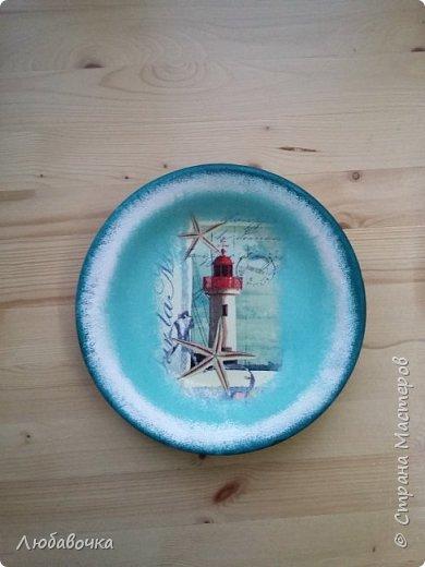 Первая тарелка моя любимая))  кошечка объемная из самоотвердевающей глины Фимо.  фото 6