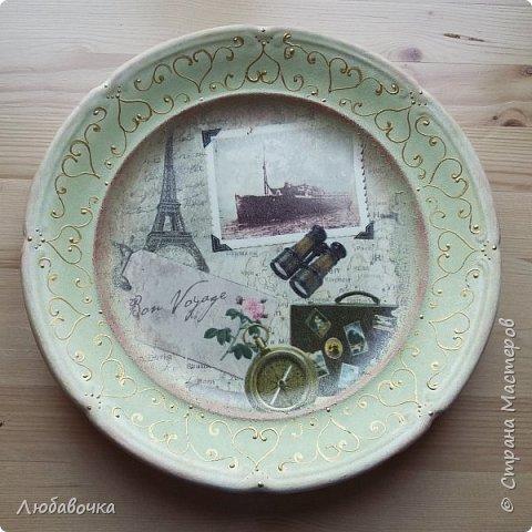 Первая тарелка моя любимая))  кошечка объемная из самоотвердевающей глины Фимо.  фото 7