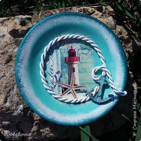 Первая тарелка моя любимая))  кошечка объемная из самоотвердевающей глины Фимо.  фото 5