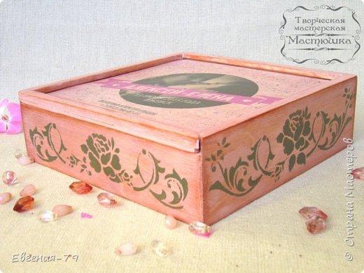 Шкатулочка-пенал сделана на заказ для фотографа, внутри 2 отделения для свадебных фотографий и для флешки фото 1