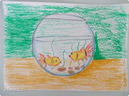"""""""Творческая мастерская"""" - Рисуем рыбок (работы детей) фото 2"""