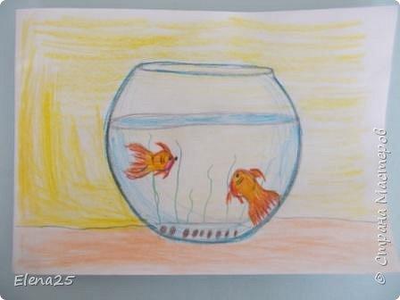 """""""Творческая мастерская"""" - Рисуем рыбок (работы детей) фото 3"""
