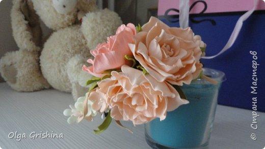 """ободок """"Зефирные розы"""" фото 1"""
