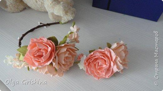 """ободок """"Зефирные розы"""" фото 3"""