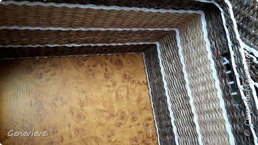 Вот сплелась у меня корзина для белья номер три.. Довольно большая, 44 см длина, 30 см ширина, 40 см высота. фото 2