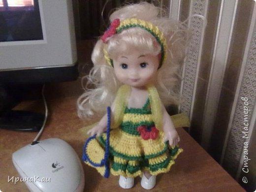 Маленькая хорошенькая куколка  Анни (12см ее высота) в подарок на день рождения моей маленькой хорошенькой внучке Анюточке. Шляпка, платье с корсажем - идем на бал фото 4