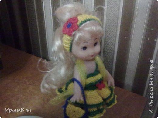 Маленькая хорошенькая куколка  Анни (12см ее высота) в подарок на день рождения моей маленькой хорошенькой внучке Анюточке. Шляпка, платье с корсажем - идем на бал фото 5