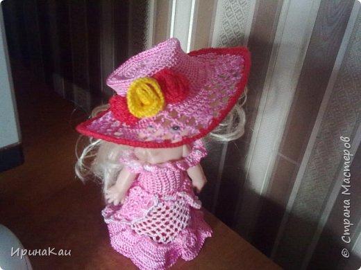 Маленькая хорошенькая куколка  Анни (12см ее высота) в подарок на день рождения моей маленькой хорошенькой внучке Анюточке. Шляпка, платье с корсажем - идем на бал фото 2