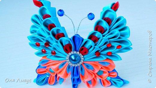 Бабочка Канзаши - Мастер-Класс  фото 2